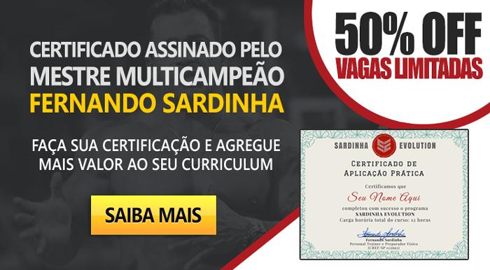 sardinha evolution certificado